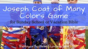 Joseph Coat of Many Colors Game (for Sunday School or Vacation Bible School) - title