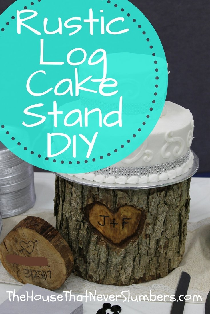 Get instructions for this Rustic Log Cake Stand DIY.