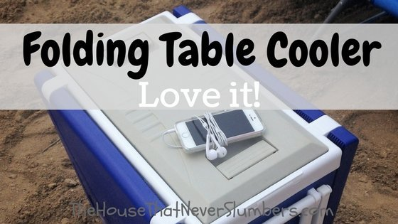 Folding Table Cooler Review - title