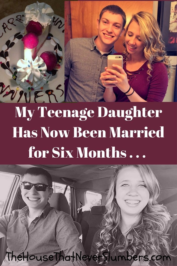 Married in High School - Celebrating Six Months - Pinterest 1