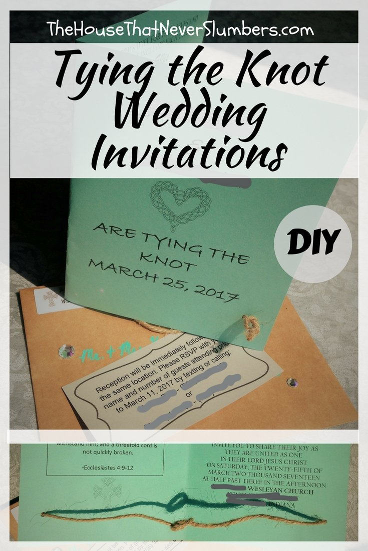 Tying the Knot Wedding Invitation DIY - Pinterest 1