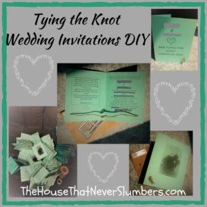 Find out how to make these cute DIY Tying the Knot Wedding Invitations for around $20!
