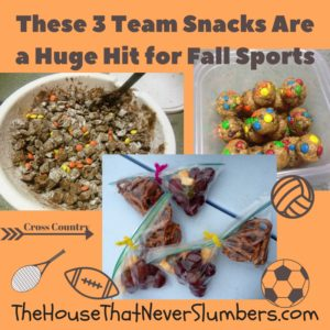 If you have kids involved with athletics, chances are you'll eventually take a turn (or a dozen turns) at team snack duty. With four kids, all in a sport or multiple sports during every season, I've definitely had some experience in providing team snacks. Let's face it, I practically have a Ph.D. in feeding teams of children at his point. When it's my turn to bring the team snack, I try not to bring something that's prepackaged and highly processed. Prepackaged snacks are often expensive and usually packed full of chemicals and preservatives we can't even pronounce. You can provide a fun and tasty team snack that didn't come from a box. These team snacks are a hit for fall sports!