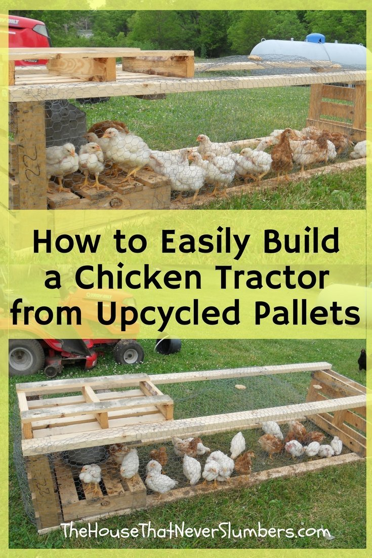 Chicken Tractor from Upcycled Pallets - Pinterest 2