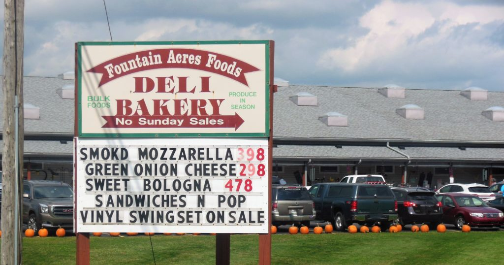 You simply cannot visit the Levi Coffin House without a stop at the nearby Fountain Acres Foods, an Amish bulk food store and one of the most impressive attractions in the vicinity.