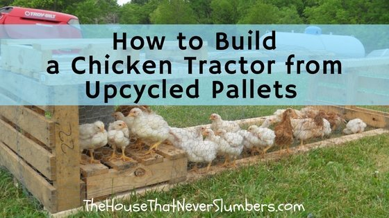 How to Build a Chicken Tractor from Upcycled Pallets - title