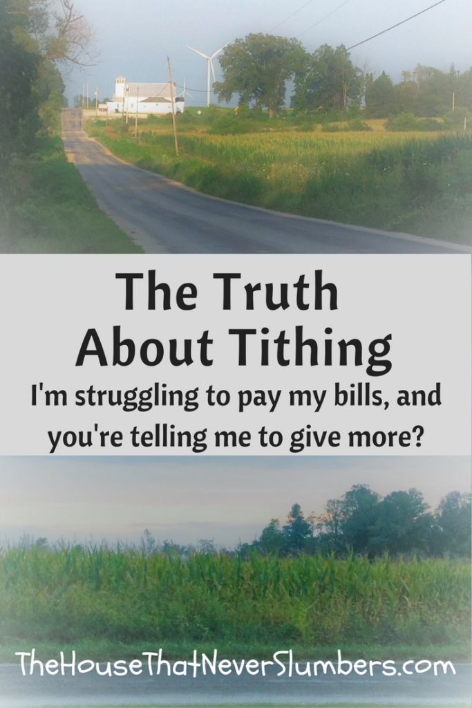 The Truth About Tithing - I know some say they can't afford to tithe. I would challenge anyone that you really can't afford not to tithe. Tithing opens the door for God to pour out his blessings on you and provide for all your needs. It's surrendering that 10% with the trust that God is big enough to meet your needs.