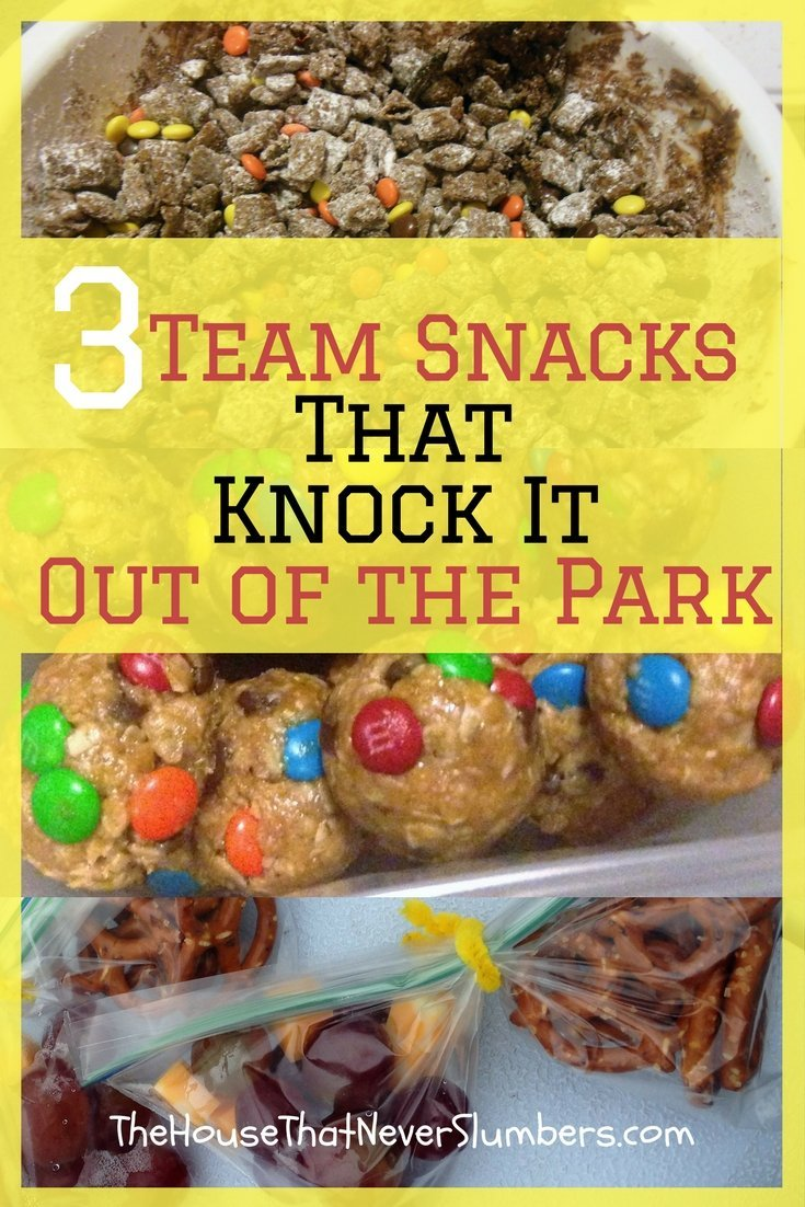 Are you constantly having to come up with ideas for team snacks? Check out these 3 Team Snacks that knock it out of the park. #snacks #sports #sportsmom #recipe #frugal