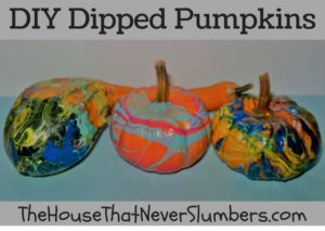 Anyone can make these simple DIY Dipped Pumpkins! This fun fall craft would make a nice addition to your Thanksgiving display or other autumn decorations. Dipping pumpkins takes less time and leaves less mess than traditional pumpkin carving activities, and they will last longer because you aren't cutting into the pumpkin.