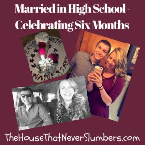 """My teenage daughter, who was married in high school, has now been married for six months (actually about 6 1/2 months at this point because I'm way behind on this post). In my last post about the couple, I tricked you into thinking you would get some really profound, further explanation about their wish to marry at such a young age. However, when questioned, all my daughter could come up with was that she just """"really likes him."""" Since I left you hanging on that cliff, I do think it's about time we delved further into spiritual discernment, today's dating culture, and the really hysterical comments one school official had to offer."""