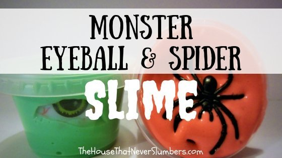Monster Eyeball and Spider Slime Video Tutorial - #slime #DIY #kidsinthekitchen #scienceproject #Halloween #monsterparty #creepyslime