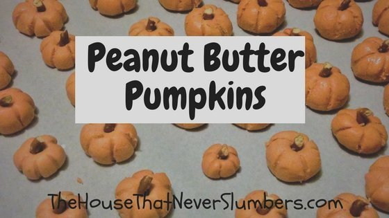 These Peanut Butter Pumpkins are adorable and so easy to make! They'll look impressive on the table at any autumn gathering. What recipe can be simpler than mixing common ingredients and adding food coloring? No cooking! No baking! This is a great recipe to add to your holiday favorites.