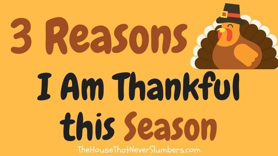 'Tis the Season to be Thankful - Not your average Thanksgiving list!