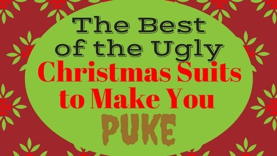 Ugly Christmas Suits to Make You Puke - We are bringing you the finest list of Ugly Christmas Suits on the web! As if Ugly Christmas Sweaters weren't bad enough! #Christmas #christmassweaters #uglychristmas #uglysweaters #chirstmassuits #christmasparty #uglyapparel