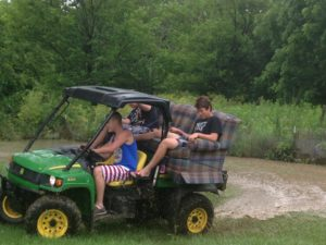 Redneck Golf Cart at the Redneck Country Club also know as The House That Never Slumbers!