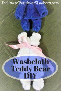 Washcloth Teddy Bear DIY - #towelorgami #OCCshoeboxes #OperationChristmasChild #washclothteddybear #DIY #easycraft