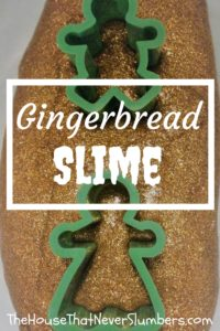 Gingerbread Glitter Slime Video - This Gingerbread Glitter Slime is a great snow day activity! Your kids will love this DIY slime project, and it makes your kitchen smell so amazing.