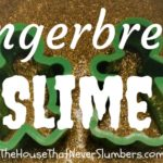 This Gingerbread Glitter Slime is a great snow day activity! Your kids will love this DIY slime project, and it makes your kitchen smell so amazing.