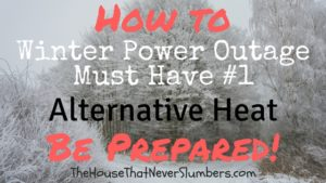 Winter Storm Preparedness - Alternative Heat without Electricity - All the times that we've had longterm power outages going back as far as I can remember have been theresult of winter weather conditions. This means, in our area, having a way to heat your home that doesn't rely on the electrical grid is vital to survival.