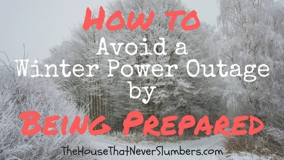 I have discovered the secret to preventing winter power outages.