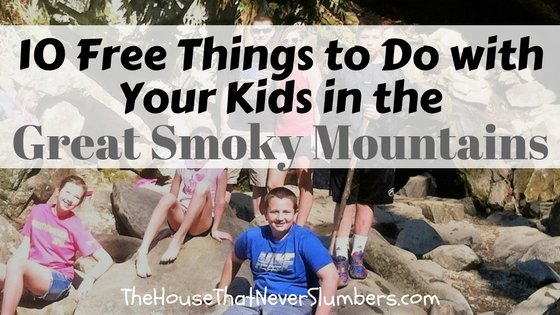 10 Free Things to Do with Your Kids in the Great Smoky Mountains - title