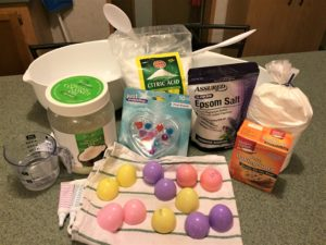 Easter Egg Surprise Bath Bombs - ingredients