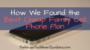 Best Family Cell Phone Plan - title