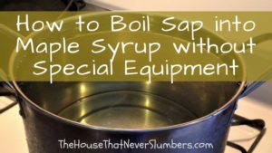 How to Boil Sap into Maple Syrup without Special Equipment - title