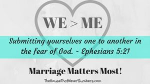 WE over Me - Ephesians 5_21