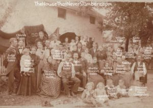 Way Back Wednesday - John & Nancy McMullen Bales Reunion 1896 - labeled