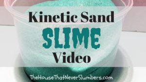 Kinetic Sand Slime Video - title