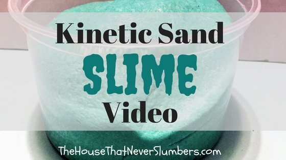 Kinetic Sand Slime Video - title