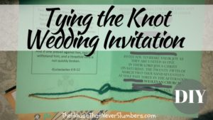 Tying the Knot Wedding Invitation DIY - title