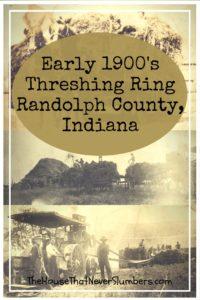 Early 1900's Threshing Ring - Randolph County, Indiana - Pinterest 1