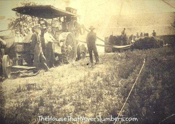 Early 1900's Threshing Ring - Randolph County, Indiana - Steam Machine
