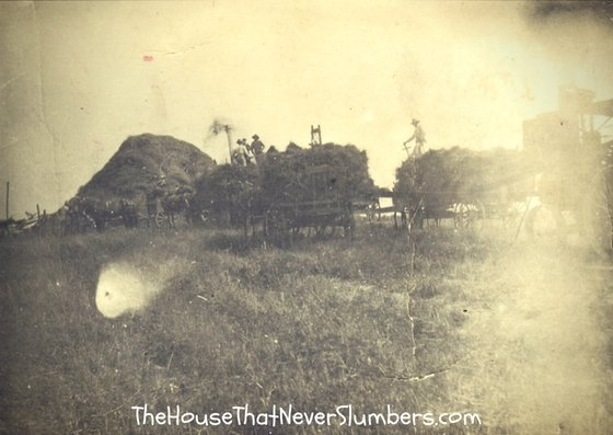 Early 1900's Threshing Ring - Randolph County, Indiana - Wagons