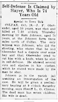 Frank Oberender Newspaper Clipping