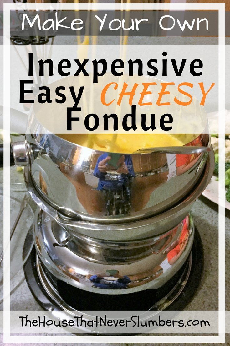 Make Your Own Inexpensive Easy Cheesy Fondue - Pinterest 1