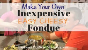 Make Your Own Inexpensive Easy Cheesy Fondue - title