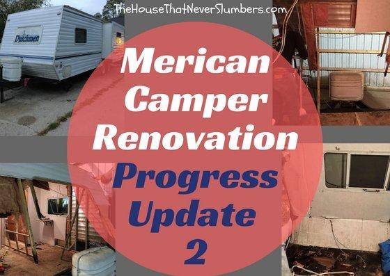 Dutchmen Lite Camper Renovation - Progress Update 2 - #camping #camper #travel