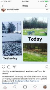 Indiana Snow April 3rd - #Indianaweather #snowinapril