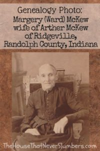 Rescued Photo Album - Ward and Pettyjohn Families of Randolph County, Indiana [Genealogy] - Margery (Ward) McKew - #genealogy #familytree #familyhistory #ancestry #ancestors #indianahistory #oldphoto