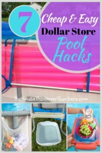 Cheap and Easy Dollar Store Pool Hacks - Organize your pool without breaking the bank! #swimmingpool #poolcare #poolhacks #pooltime #summertime