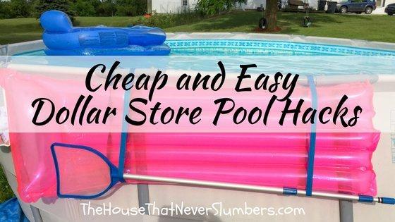 Cheap and Easy Dollar Store Pool Hacks - #swimmingpool #poolcare #poolhacks #pooltime #summertime