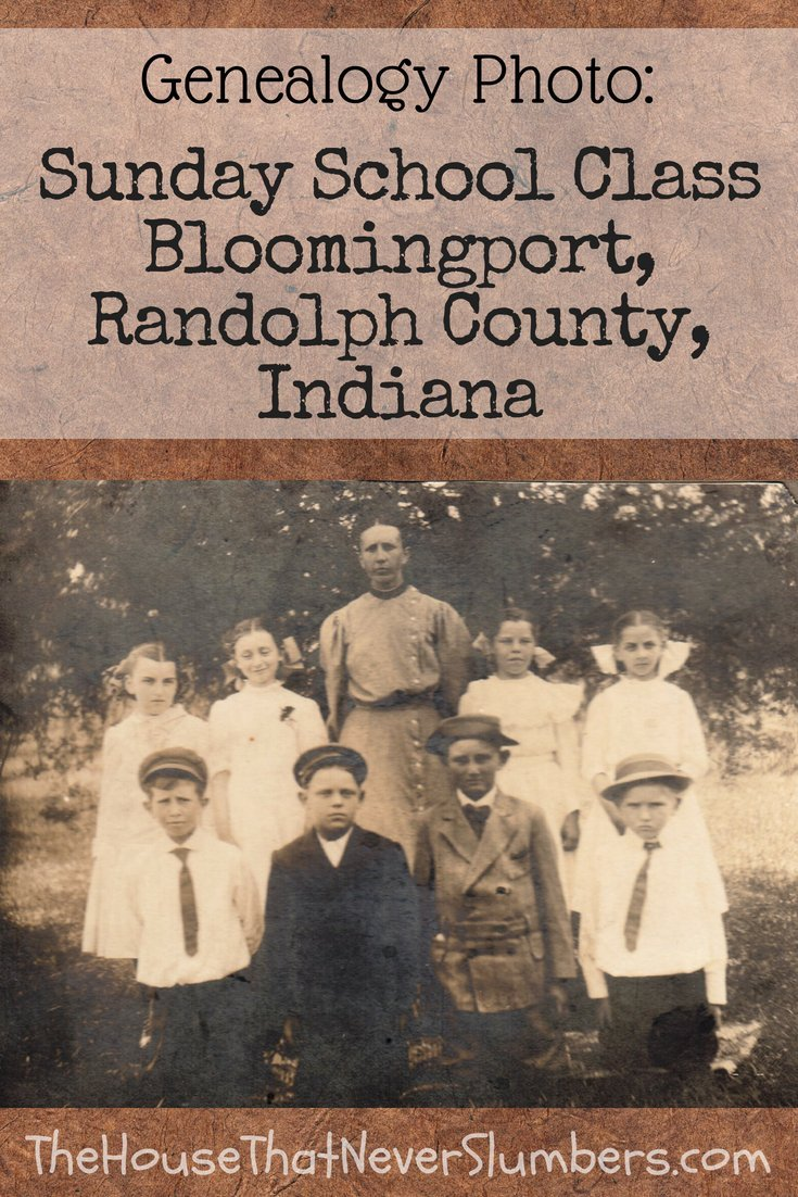 Sunday School Class Bloomingport, Indiana - Bloomingport Friends Church of Randolph County, Indiana #genealogy #familyhistory #familytree #societyoffriends #Quakers #ancestors #randolphcountyindiana #indianahistory