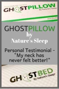 GhostPillow by Nature's Sleep - Personal Testimonial - #sleep #pillow #sleeping #bedding #home