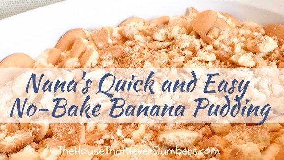 Nana's Quick and Easy No-Bake Banana Pudding - #recipe #banana #desserts #easyrecipe #entertaining