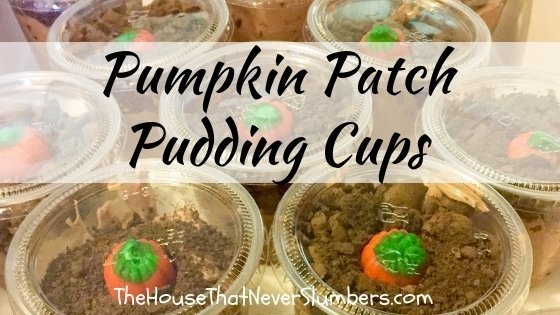 Pumpkin Patch Pudding Cups - These pudding cups are the perfect treat to bring to any fall gathering. The taste can't be beat, and they are adorable. #fallrecipe #kidsinthekitchen #fall #recipe #autumn #foodart