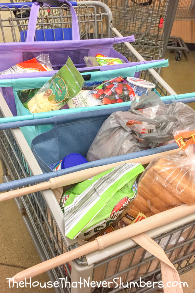 Aldi Shopping Trip with Lotus Trolley Bag - Lotus Trolley Bag makes holiday stocking up on groceries at Aldi a breeze. Check out our video demonstration of Lotus Trolley Bag. #lotustrolleybag #lotusbag #cartbags #cartorganizer #aldi #aldishopping #aldihacks #groceryshopping #mealplanning #holidaybaking