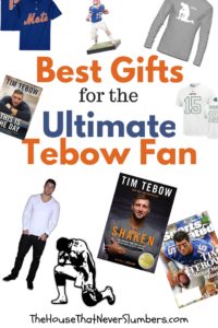 Best Gifts for the Ultimate Tebow Fan - #Tebow #TimTebow #giftguide #giftsformen #football #FloridaGators #Tebowing